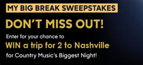Abc Sweepstakes - abc national television sales my big break sweepstakes sun sweeps