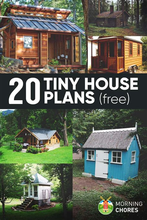 mini house plans 20 free diy tiny house plans to help you live the tiny