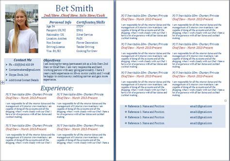 sle cv for yacht stewardess exles of yacht stewardess cv style guide myths