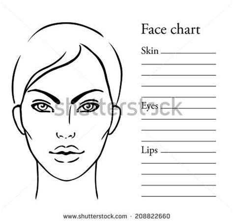 face chart makeup artist blank template stock vector art royalty free face chart makeup artist blank 404091133