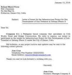 Letter Of Intent To Bid Template Filipino Bidder Writing Your Letter Of Intent