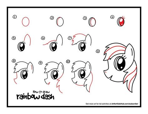 The Easy Way To Be A Dashing 2 by How To Draw Rainbow Dash