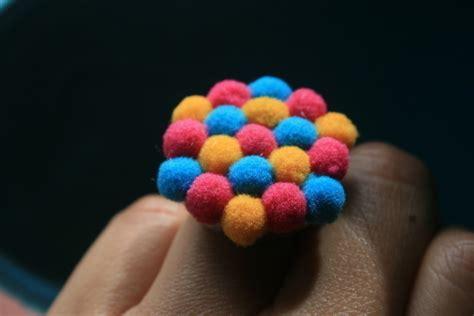 Anting Pom Pom Mini Ring mini pom poms ring 183 a pom pom ring 183 jewelry and