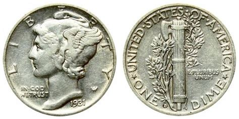 1931 d mercury dimes winged liberty silver dime value and