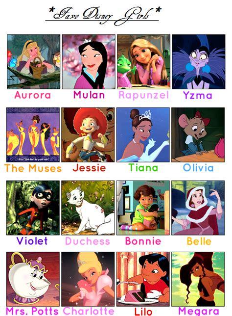 Disney Girl Meme - favorite disney girls meme by sekaiichihappy on deviantart