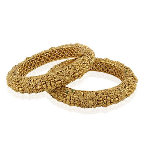 Buy Magnificent Gold plated antique bangle Online