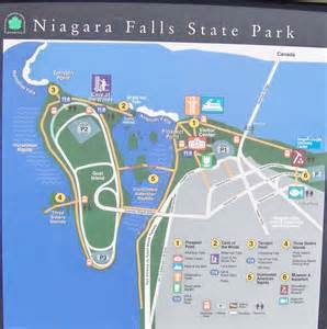 niagara falls canada parking map niagara falls state park