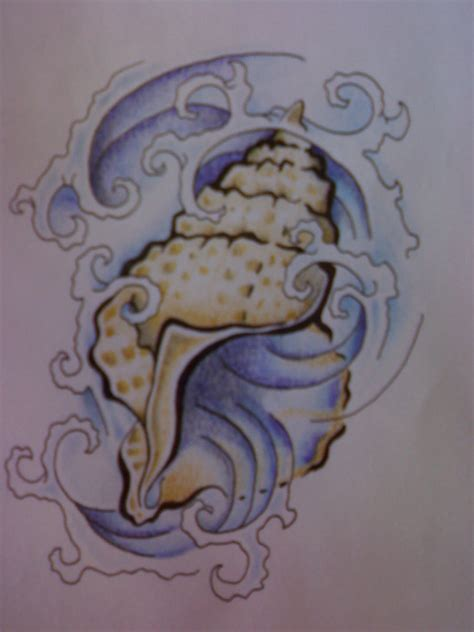 seashell tattoos on hibiscus flower tattoos mermaid