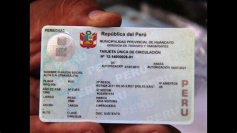 tarjeta de circulacion de vehiculos huancayo dos mil 427 veh 237 culos a 250 n no tienen tarjeta de