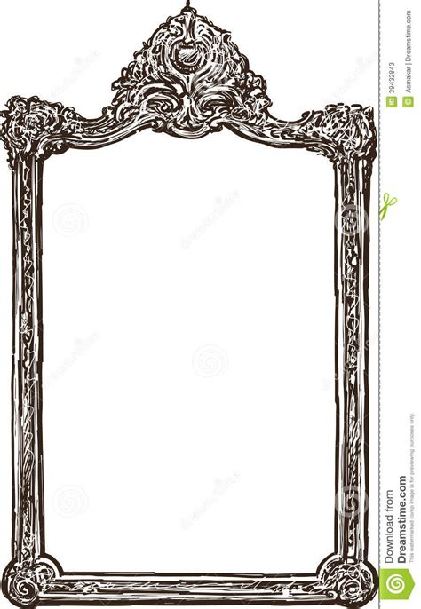 mirror will template ornate frame stock photo image 39432843