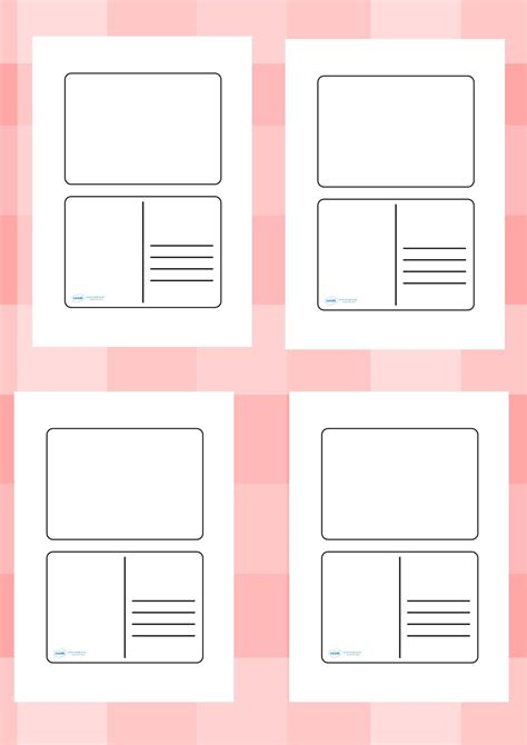 card writing template ks1 twinkl resources gt gt blank postcard templates gt gt printable