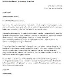 cover letter for volunteer work the letter sle cover