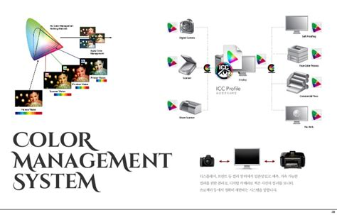 color management 일관된 컬러 매니지먼트 consistent color management