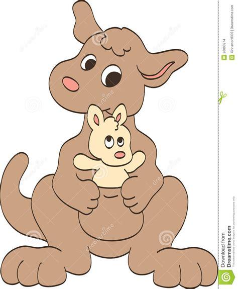 Boneka Kangaroo W Baby Pink and baby kangaroos stock vector image of newborn