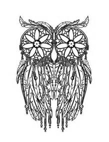dreamcatcher coloring pages feather owl coloring page coloring pages doodling