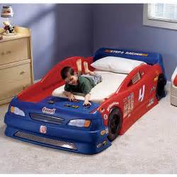 step2 stock car convertible toddler to bed walmart