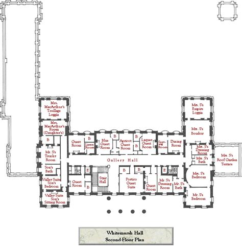 Mansions Floor Plans Mansion Floor Plans Whitemarsh Hall Wyndmoor