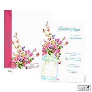 Shower amp party invitations 183 jar of flowers bridal shower invitation
