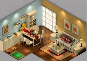 british house interior layout 3d view