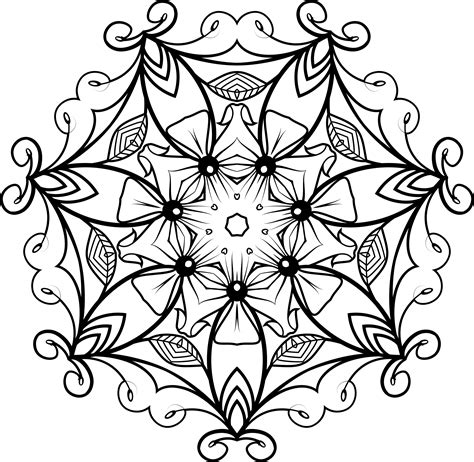 design flower black and white clipart black and white floral design 5