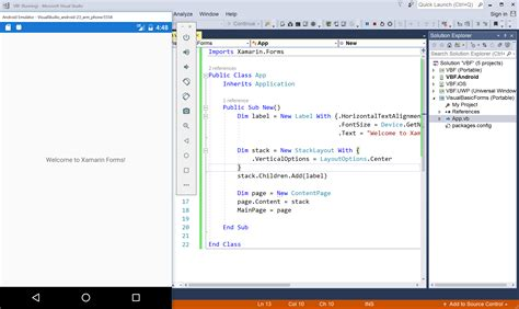 xamarin layout folders xamarin forms using visual basic net xamarin