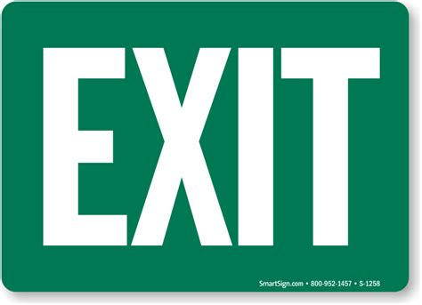 entry and exit office exit signs