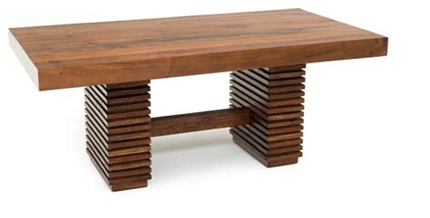 thick modern chic wood table traditional dining tables