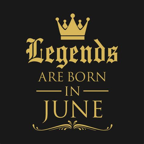 Legends Are Born legends are born in june legends tote teepublic