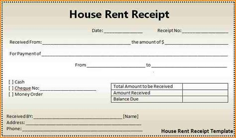 free printable rent receipt template 10 printable rent receipt writable calendar