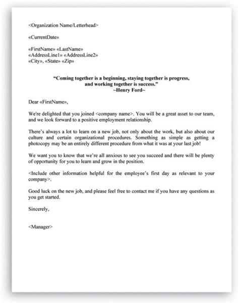 Introduction Letter To Hr New Employee Welcome Letter Exle From Some Files And Had To Hr Letter Formats