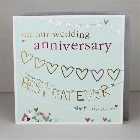 On Our Wedding Anniversary Best Day Ever Card   Karenza