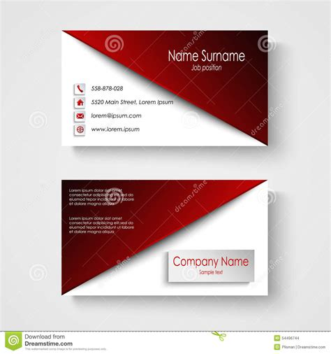 business card template eps business card with white background template stock
