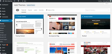 belajar wordpress part 2 cara mengganti template