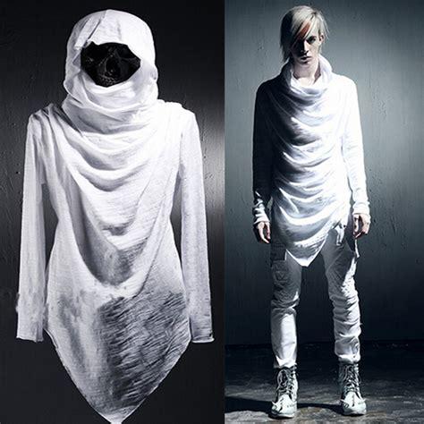 Dress Hoodie Fashion avant garde s clothing asymmetric unbalance hoodie t shirts trendy hair
