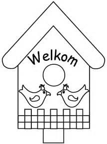 Saltbox Houses lente kleurplaten vogelhuisje