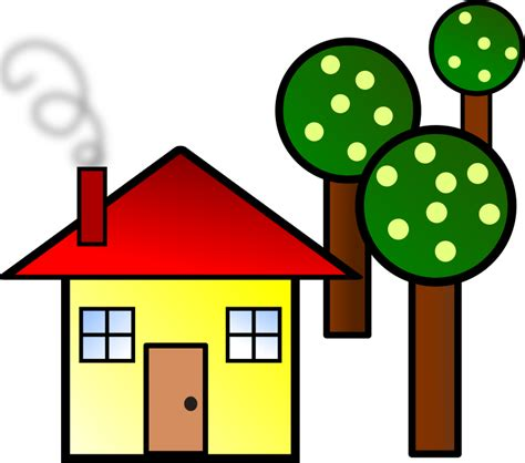 A Small House Clipart House With Trees