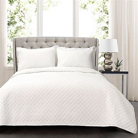 oversized quilts for king beds buy lush decor ava oversized king quilt set in white from