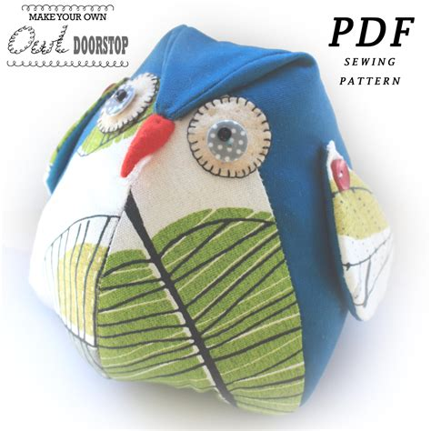 pattern for house door stop owl doorstop pdf sewing pattern