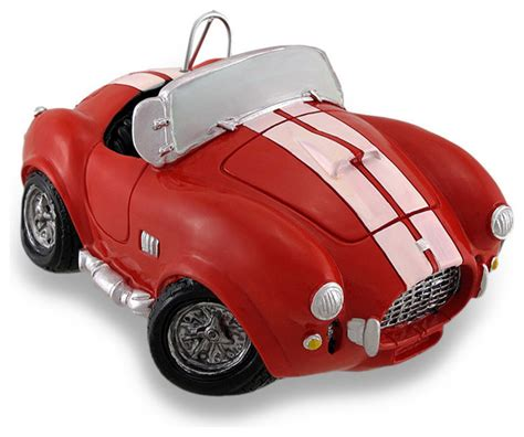 car coin bank vintage style ac cobra race car coin bank and white
