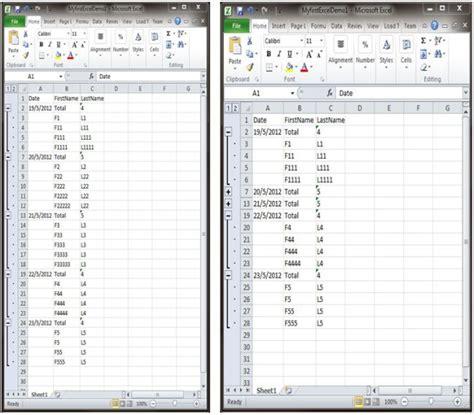 open xml tutorial excel c simple grouping of data in excel using open xml sdk 2 0