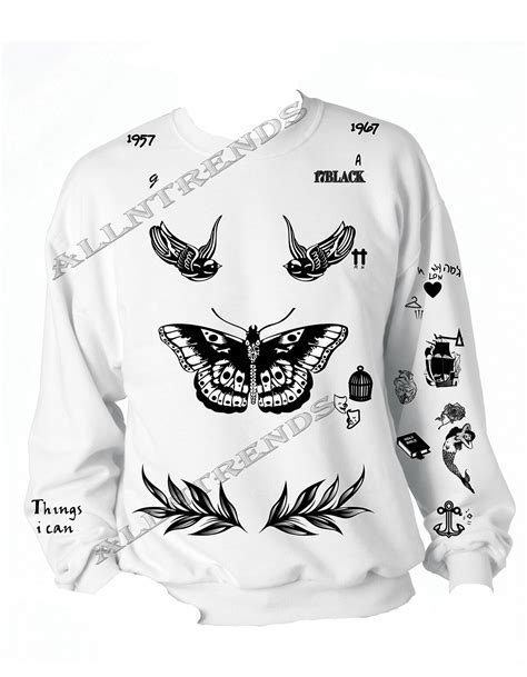 harry styles tattoo sweater amazon allntrends harry style sweatshirt tattoo one direction