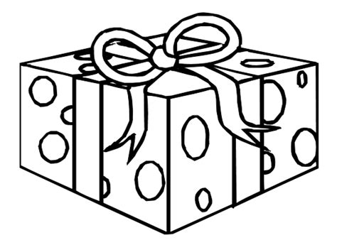 free color gift box coloring pages