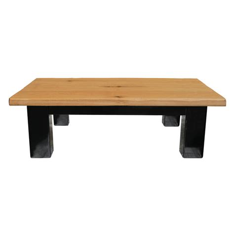 Oak And Iron Metre Wide Medium Coffee Table Dry By Oak Wide Coffee Tables