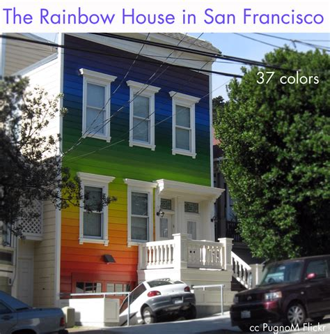 rainbow house the rainbow painted house rainbow colors