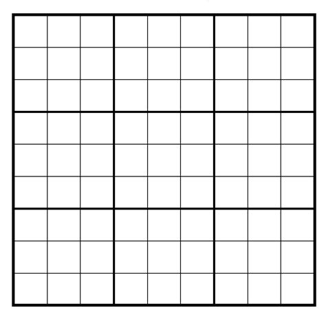 printable blank sudoku puzzle grids blank sudoku grid pictures