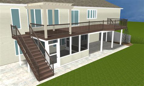 second story deck plans pictures a brand new ft wayne area second story deck with pergola