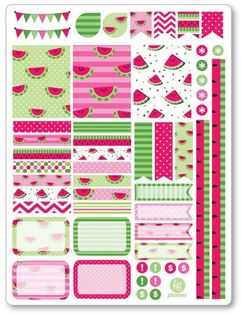 printable planner decorations one 6 x 8 sheet of stickers cut and ready for use in your