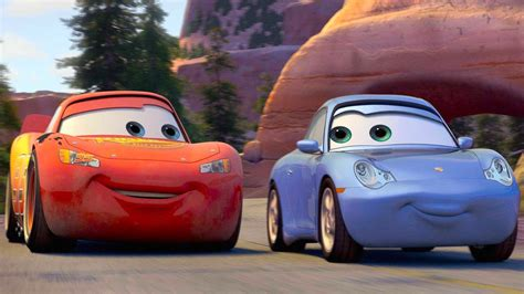cars sally and lightning mcqueen kiss kids movie disney pixar cars toon lightning mcqueen and