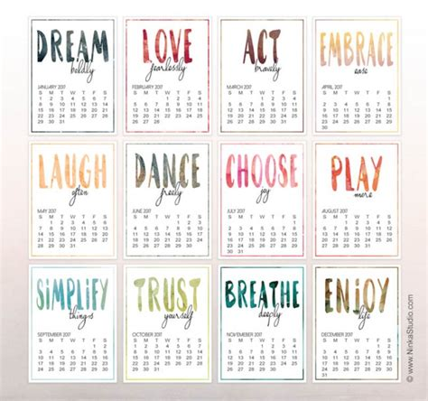 printable calendar with inspirational quotes 25 free printable calendars inspirational studio and