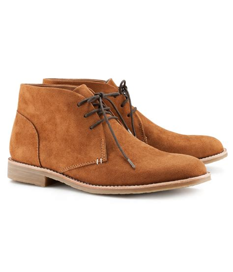 m s mens boots h m boots in brown for desert lyst